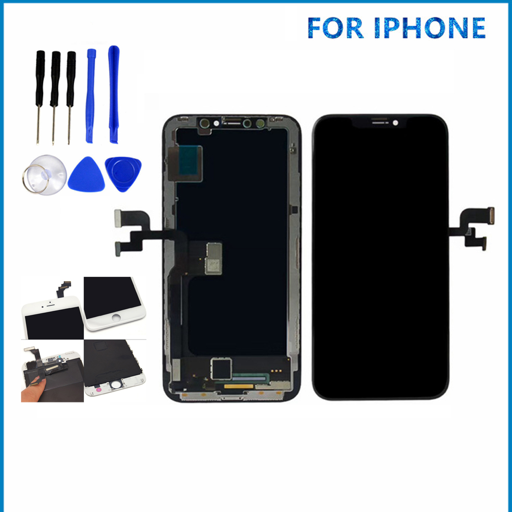 Pour iPhone X 5/5 S/5C/6 PLUS LCD affichage écran tactile numériseur assemblée LCD écran pièces de rechange téléphone portable LCD