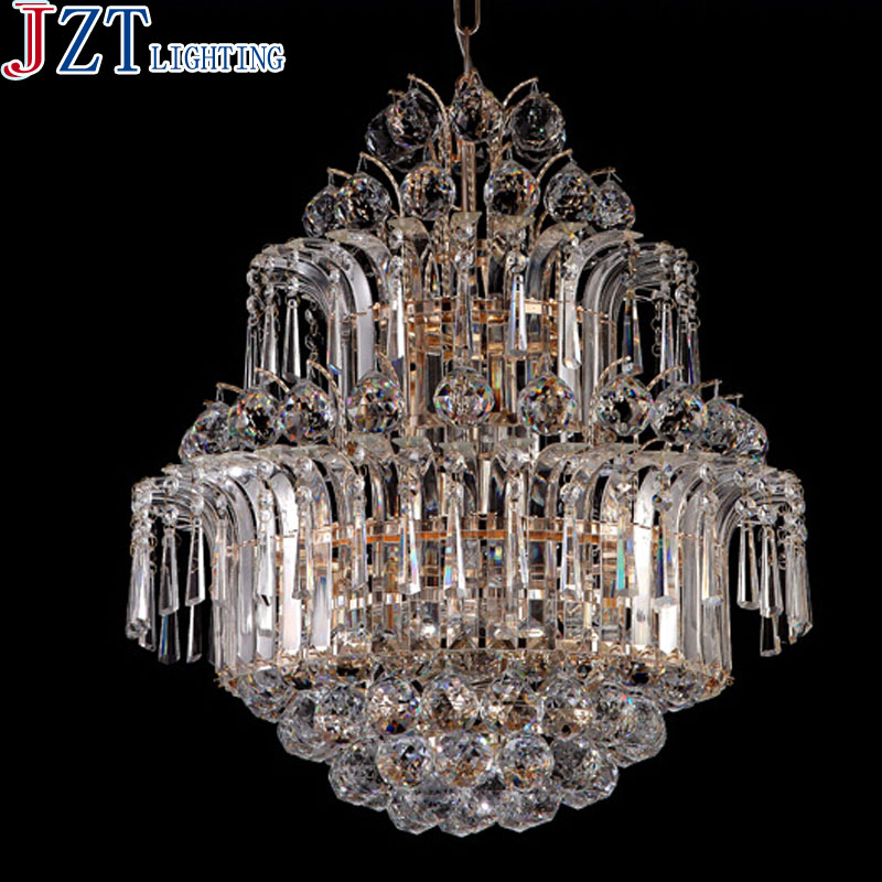 Best Price Creative 8 Head Crystal LED Pendant Light Dia 50cm Luxury Golden Lamp Modern Minimalist Dining Room Lamp