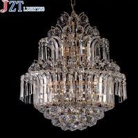 Best Price Creative 8 Head Crystal LED Pendant Light Dia 50cm Luxury Golden Lamp Modern Minimalist Dining Room Lamp