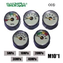 New Paintball Acessorios PCP Air Gun Airsoft Mini Gauge Manometer 5MPa  10MPa 20MPa 30MPa 40MPa M10*1
