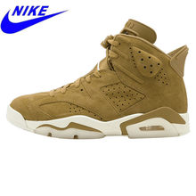 481b3a4e8b7acf Nike Air Jordan 6 Retro AJ6 Joe 6 Men s Basketball Shoes High Suede Wheat  Color Sneakers Sports Shoes