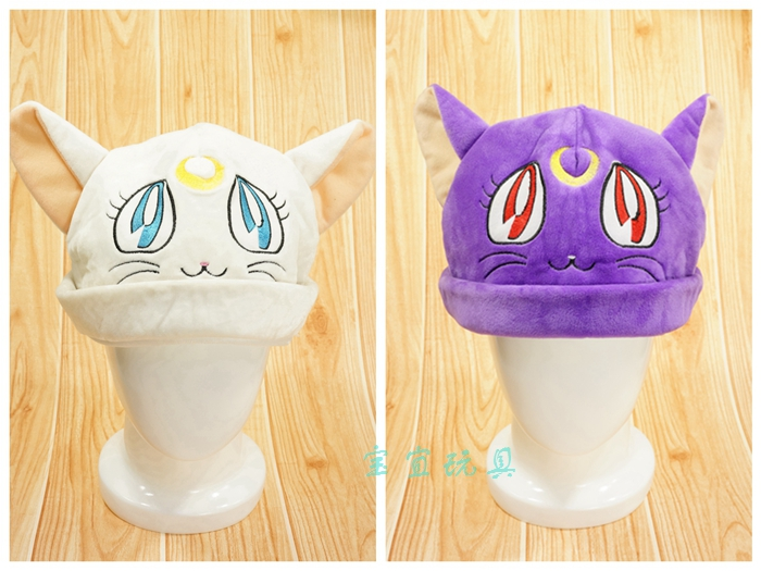 Toys & Hobbies Sailor Moon Luna Cartoon Cap Cute Fluffy Animal Caps Soft Winter Warm Scarf Earmuff Plush Hats For Kids Adult Gift New To Win A High Admiration