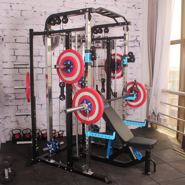 Functional Trainer Cable Crossover Station Home Gym Pulley Machine Fitness Equipment Smith Cage Multi crossfit equipment
