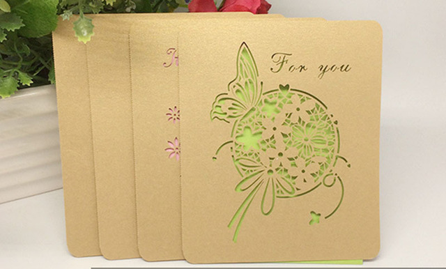 Wholesale 2000pcslot creative laser cut greeting card message card wholesale 2000pcslot creative laser cut greeting card message card european general postcard blessing greeting m4hsunfo Image collections