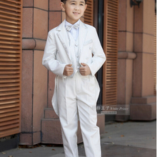 Elegant Fashion Children White Tuxedo Set Costume Birthday Fashion Casual Brand Formal Boy Wedding