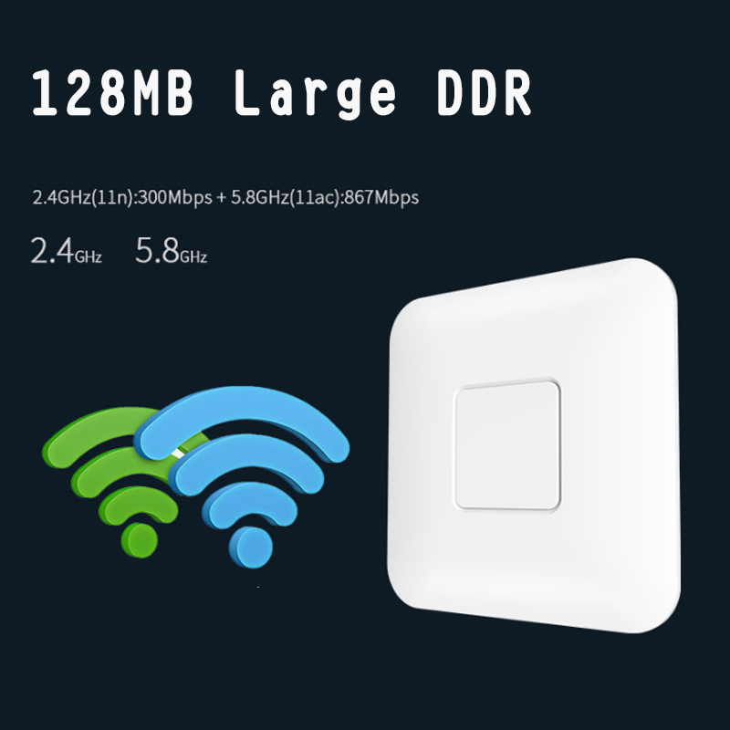 Sans fil AP CF-E355AC 1200 Mbps plafond AP 802.11AC intérieur WIFI routeur POE puissance EM88