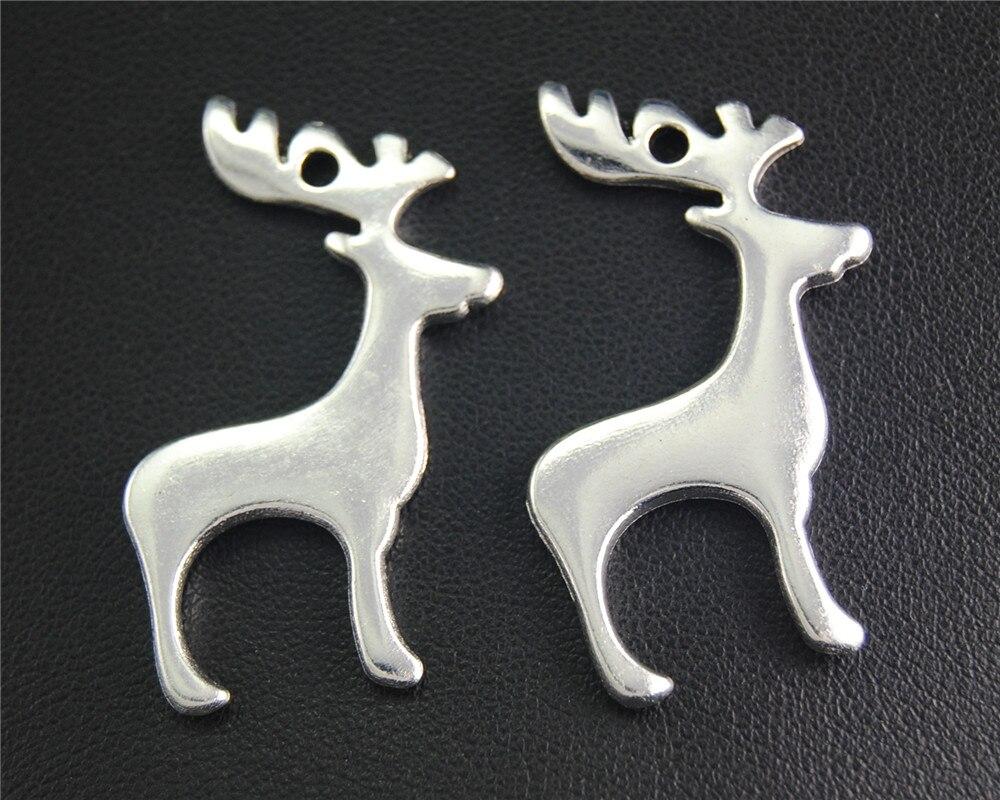 10pcs Antique Sliver deer Charm Fit Bracelets Necklance DIY Metal Jewelry Making 39x21mm A2062 ...