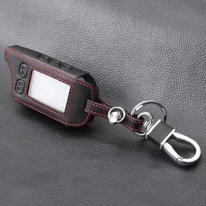 Image 4 - Vciic Leather Case Sleutelhanger Voor Russische 2 Weg Alarm Systeem Sleutelhanger Voor Tomahawk TZ 9010 TZ9010 Tomahawk TZ9030, tz 9030,TZ 9030