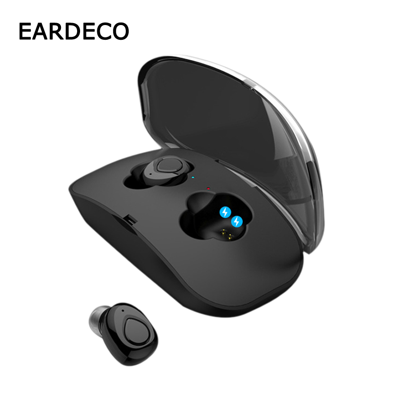 EARDECO Capsule Wireless Earphones Bluetooth Earphone Deep Bass TWS Earbuds Stereo Headset With Mic Handsfree In Ear For Phone