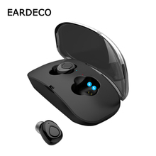 цена на EARDECO Capsule Wireless Earphones Bluetooth Earphone Deep Bass TWS Earbuds Stereo Headset With Mic Handsfree In Ear For Phone