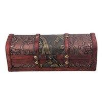 BQLZR Retro Old Stye Wooden Jewelry Box Case Storage Crate Box For Women