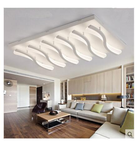 US $285.0 |Led ceiling lamp modern living room lamp dining hall main hall  bedroom modern minimalist atmosphere rectangular lamps FG133-in Ceiling ...