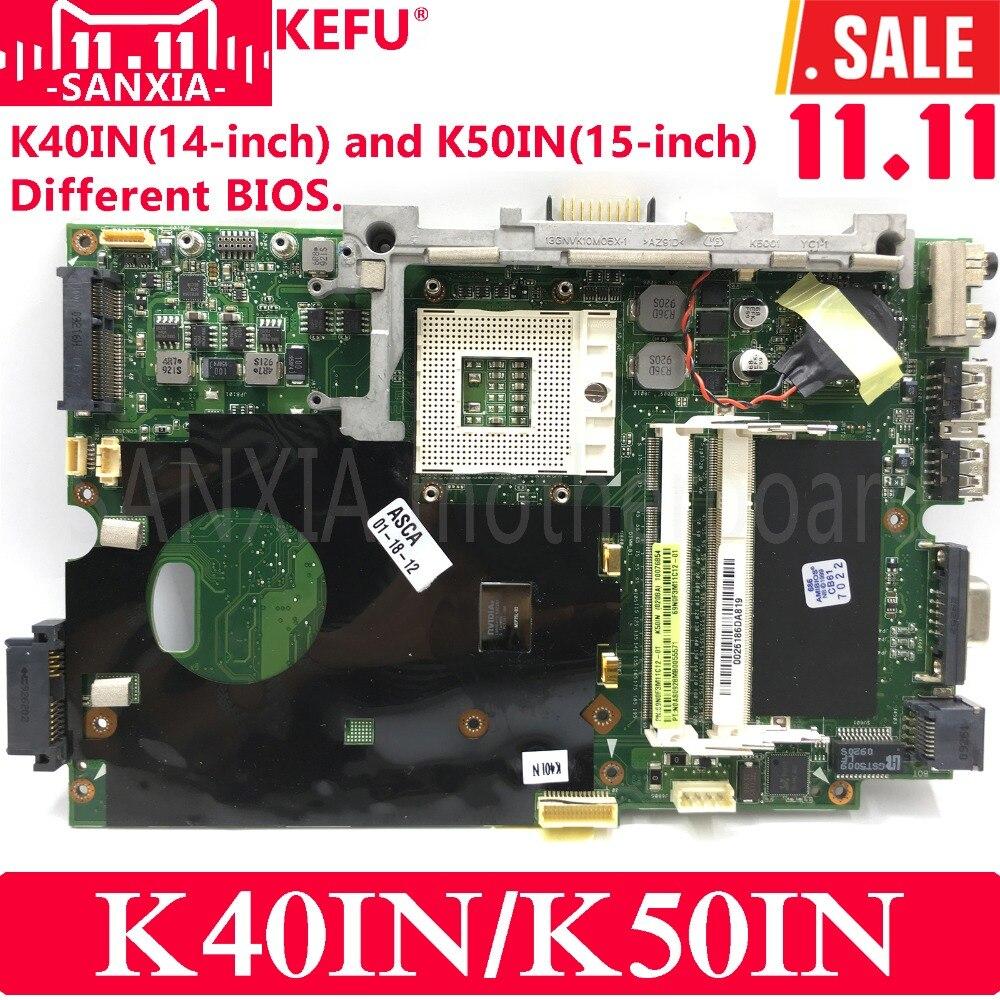 KEFU K40IN K50IN Laptop motherboard for ASUS K40IN K50IN X8AIN X5DIN K40IP K50IP K40I K50I K40 K50 Test original mainboard цена