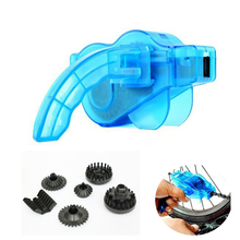 New Portable Bicycle Chain Cleaner,Bike Clean Machine Brushes Scrubber Wash Tool, Mountain Cycling Cleaning Kit Outdoor Sports