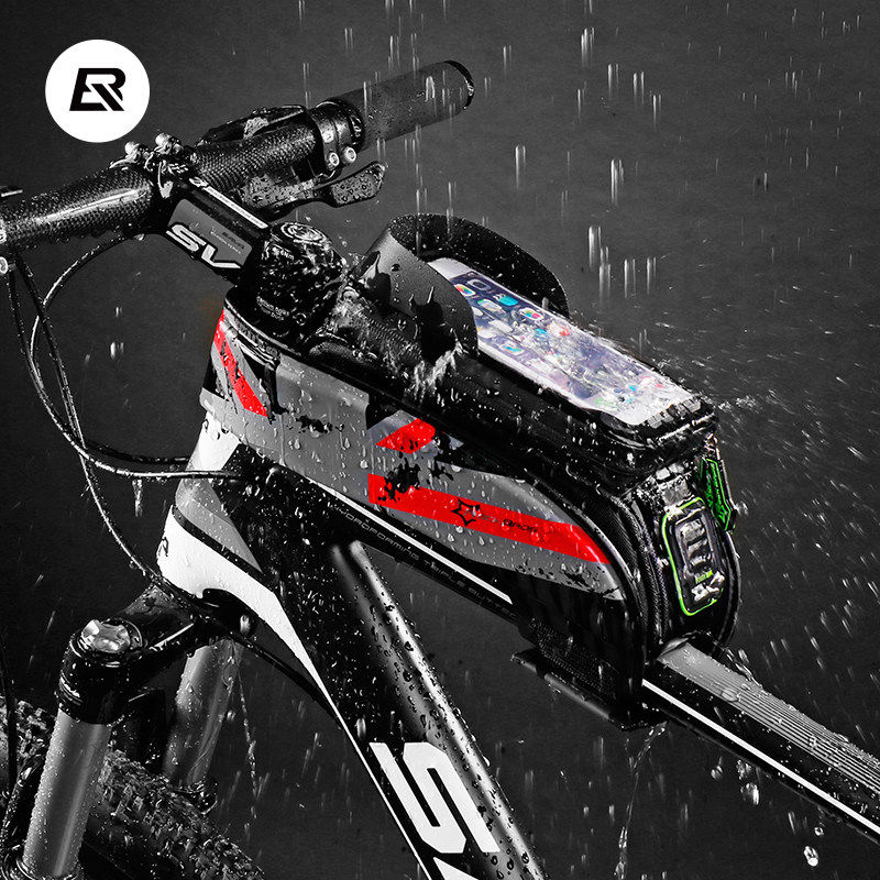 Rockbros Bicycle Bag 5.8 6.0 Inch Phone Case Waterproof Touchscreen - Cycling - Photo 2