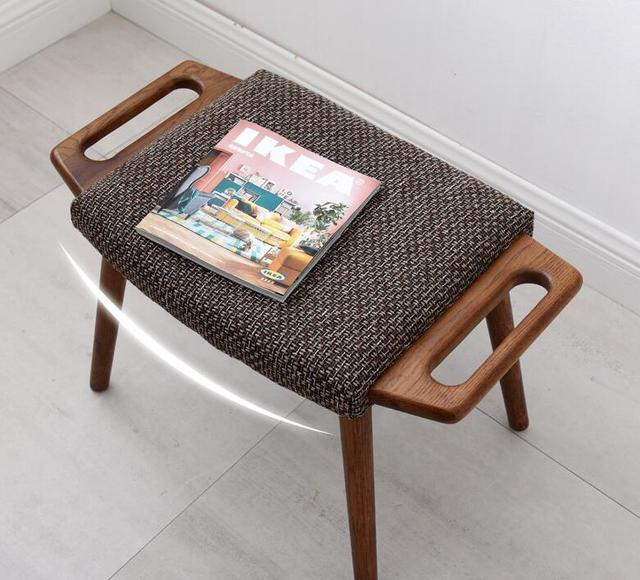 Oak Dressing Footrest Stool  6