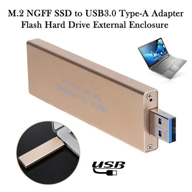 Aluminum Alloy USB 3.0 to M.2 SSD USB3.0 to NGFF B KEY SSD Mobile Hard Disk Box External m2 Adapter for 2242 2260 2280 5