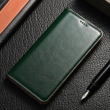 Genuine Leather Flip Case For Samsung Galaxy A10 20 30 40 50 60 70 80 90 e s 5G Crazy horse Holder Back cover bags funda