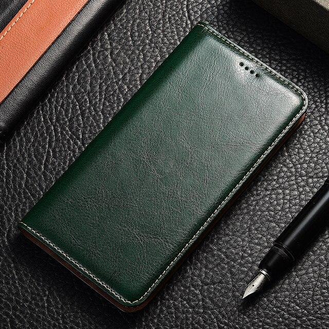 Genuine Leather Flip Case For Samsung Galaxy A10 20 30 40 50 60 70 80 90 e s 5G Crazy horse Holder Back cover bags funda