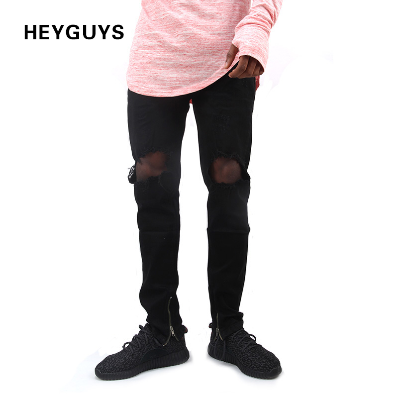 Pants Jeans Hiphop Street Design Straight Fashion Casual New Hole Original High-Quality