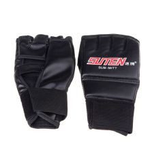 цена на 2PCS/Pair Boxing Gloves PU Leather Finger Protector Half Mitts Mitten MMA Muay Thai Training Punching Fighting Sports