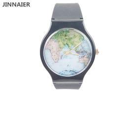2018 новейшие модные Map Дизайн Для мужчин Для женщин силиконовые часы Время часы ремешок Relogio женский