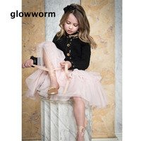 Glowwormkids baby girl autumn spring sweater kids girl long sleeve cardigan sweater knitted jacket coco retro style 2 6T hs015