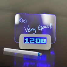 LED Fluorescent Digital Alarm Clock with Message Board Digital Alarm Clock Calendar electronic desktop Digital table clocks