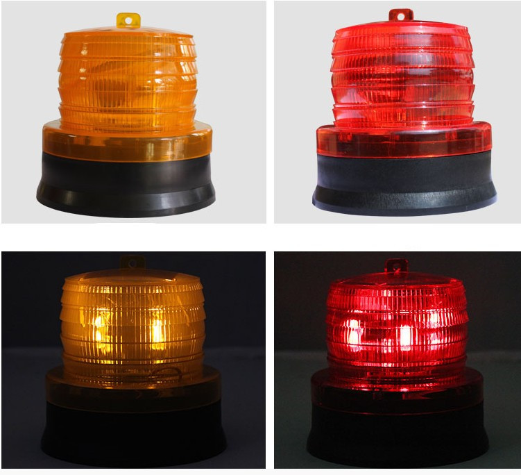 LED Solar Warning Light 12V-24V Solar Flashing Strobe Beacon Emergency LED Warning Light Car Auto Lamp