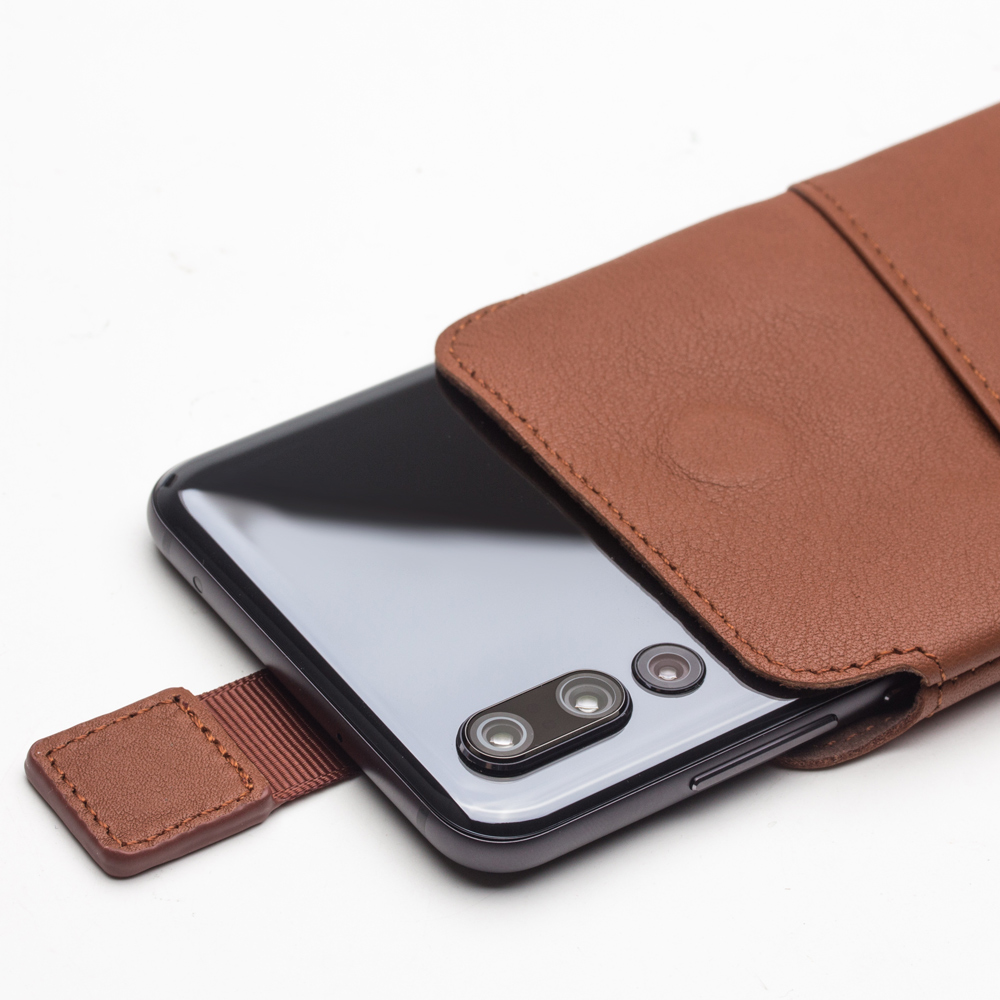 QIALINO Pure Handmade Bag Case for Huawei P20 Pro Luxury Genuine Leather with Card Slot Phone Cover for P20 Pro for 6.1 inches