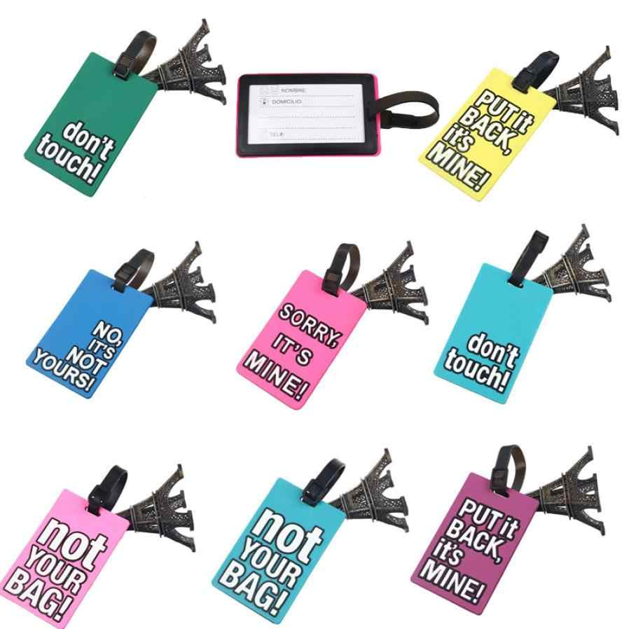 b6796f2d97a4 2017 Hot Sale Cute Silicone Luggage Tags New Portable Secure Travel  Suitcase ID Luggage Handbag Large Tag Label Tag For Bag Sac