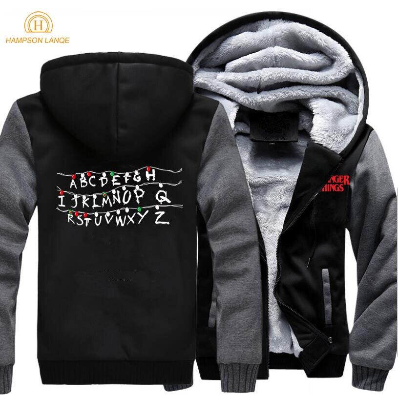 2019 New Spring Winter Jackets Mens TV Show  Print Sweatshirt Men  Harajuku Zipper Hoodies Fashion Men's Coat