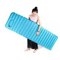 Outdoor Inflatable Cushion Sleeping Bag Mat Fast Filling Air Moistureproof Camping Mat With Pillow Sleeping Pad 1.3KG