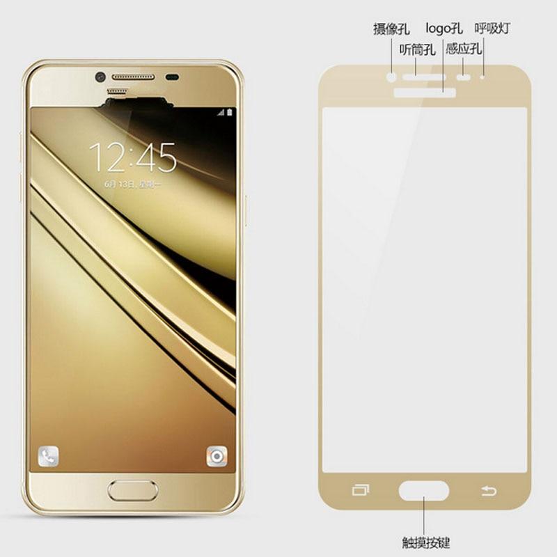 GerTong Penuh Penutup Kaca Tempered Untuk Samsung Galaxy A3 A5 A7 A7 - Aksesori dan suku cadang ponsel - Foto 5