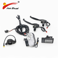 Elektrische Fahrrad Conversion Kit LCD Display Vorne Licht Drossel 36 v 500 watt Bremshebel Wasserdichte Draht Motorrad Teile
