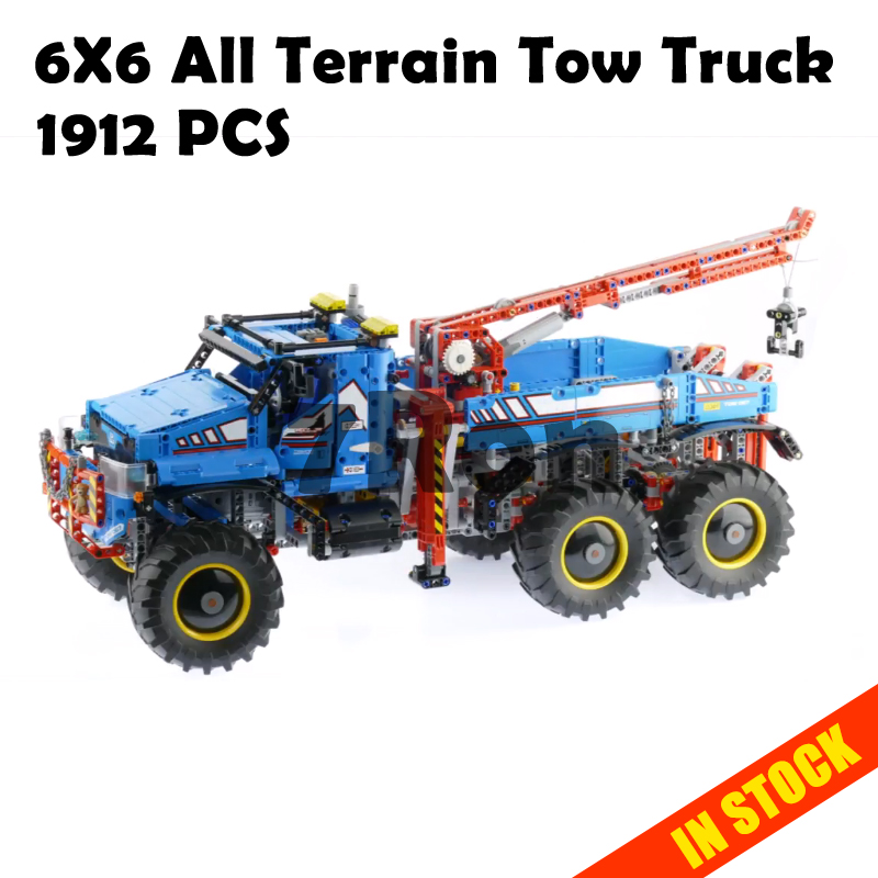 Model building toys hobbies 20056 Compatible With lego technic Blocks 42070 6X6 All Terrain Tow Truck Educational DIY Bricks free shipping tow truck diy enlighten block bricks compatible with other assembles particles