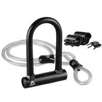 High Quality Military Products 3 In 1 Bicycle Locks Bike U Lock Anti hydraulic Shearing Anti theft Lock For MTB Road Bike