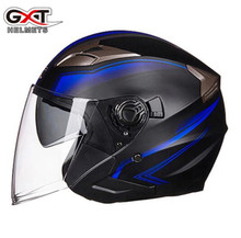 GXT Motorcycle Helmet Open Face Helmet ABS Motorbike Helmet Biker Safety Double Lens Casque Casco Moto Helmet Motorcycle