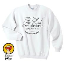 23rd Psalm, Bible verse Sweatshirt, Christian Faith Inspirational clothing Jesus Crewneck Christian-D421