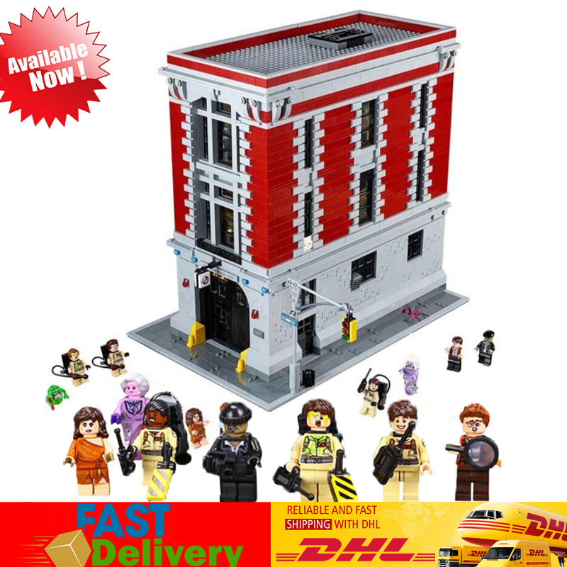 LEPIN Toys 16001 4705PCS The Ghostbusters Firehouse Headquarters Model Set Blocks Bricks Kids Toys Compatible LegoINGlys