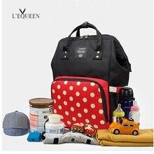 LEQUEEN Cartoon Cute Mummy Maternity Diaper Bag Backpack Large Capacity Outdoor Stroller Nursing Nappy Baby Bag Origanizer