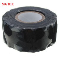 5pcs 10pcs Useful Waterproof Black Silicone Performance Repair Tape Bonding Rescue Self Fusing Wire Hose 3