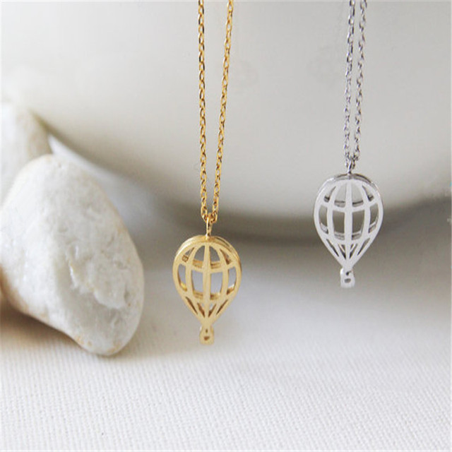 10pcs Christmas Gift New Trendy Jewelry Whole Hot Air Balloon Necklace Cute And Sweet Sky
