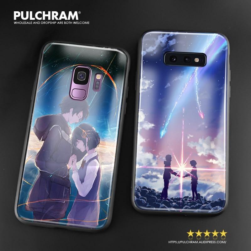 Swoje imię i nazwisko kimi no na wa anime futerał na telefon ze szkła miękki silikon do Samsung Galaxy S7 krawędzi S8 S9 S10e s10 Plus uwaga 8 9 10 PLUS