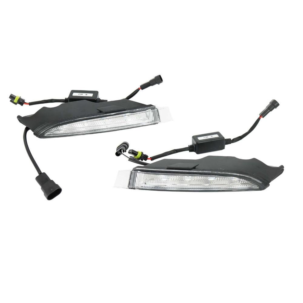 For VW Golf 6 MK6 R20 2009 2010 2011 2012 2013 LED DRL Daytime Running Light Fog Lamp Fog Light Car LED Light 2009 2011 year golf 6 led daytime running light