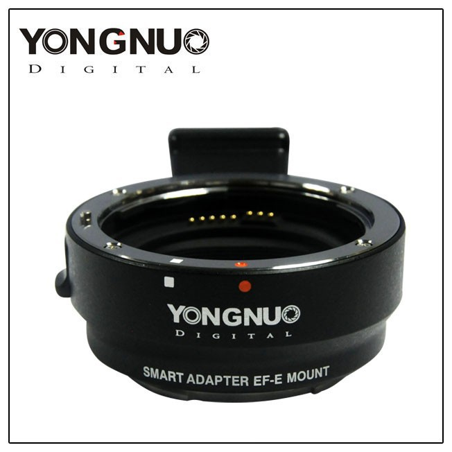 Original YONGNUO Camera Smart Adapter EF-E Mount for Canon EF EF-S Lens to Sony A6000 / A5000 / NEX7R / 7R camera auto focus lens adapter ii for canon eos ef ef s to sony full frame nex a7 a7r