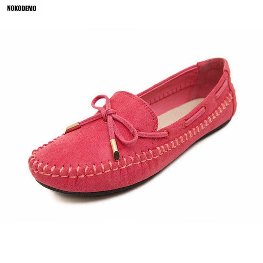 Beige rose Bowtie Plus lavande Chaussures Bateau Rouge Femme Appartements Femmes Slip on noir Mocassins Taille Plat La wqpxZ7AH