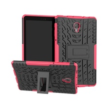 Hybrid Armor Tablet Case for Samsung Galaxy Tab A 10.5 SM-T590 T595 Kickstand Hard Back Cover with Flexible TPU Plastic Silicone