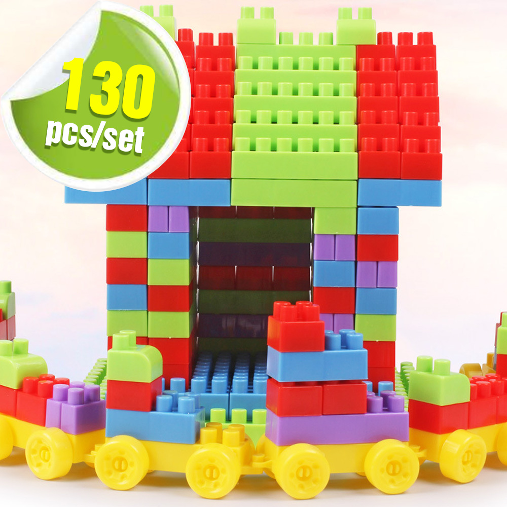 130PCS Building Blocks Assembled Toy DIY 3D Model Designer Construction Block Bricks Creative Toys For Kids Education Learning jie star fire ladder truck 3 kinds deformations city fire series building block toys for children diy assembled block toy 22024