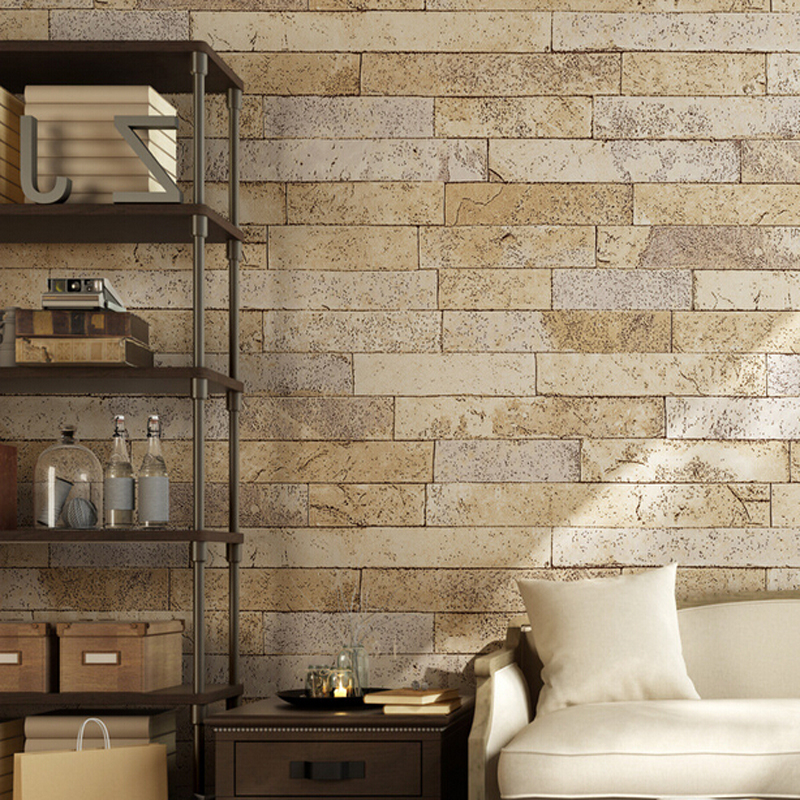 Vintag brick print 3d wallpaper for walls 3 d pvc papel - Tapiz para pared ...
